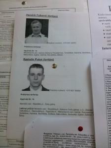 Rudaminos policijos nuovados pareigūnai Hendrik Falkevič ir Kęstutis Putys prižiūri